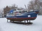 schiff im schnee