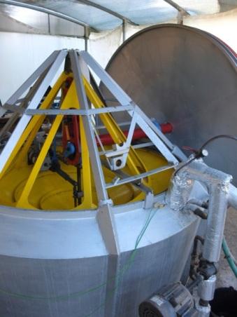 Stirlingmotor im Solarvilage